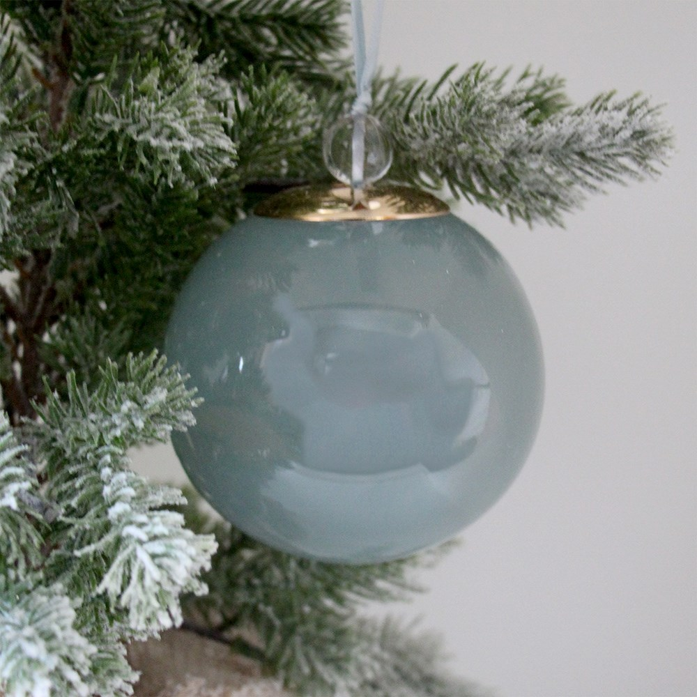Home Beautiful Glass Bauble Blue