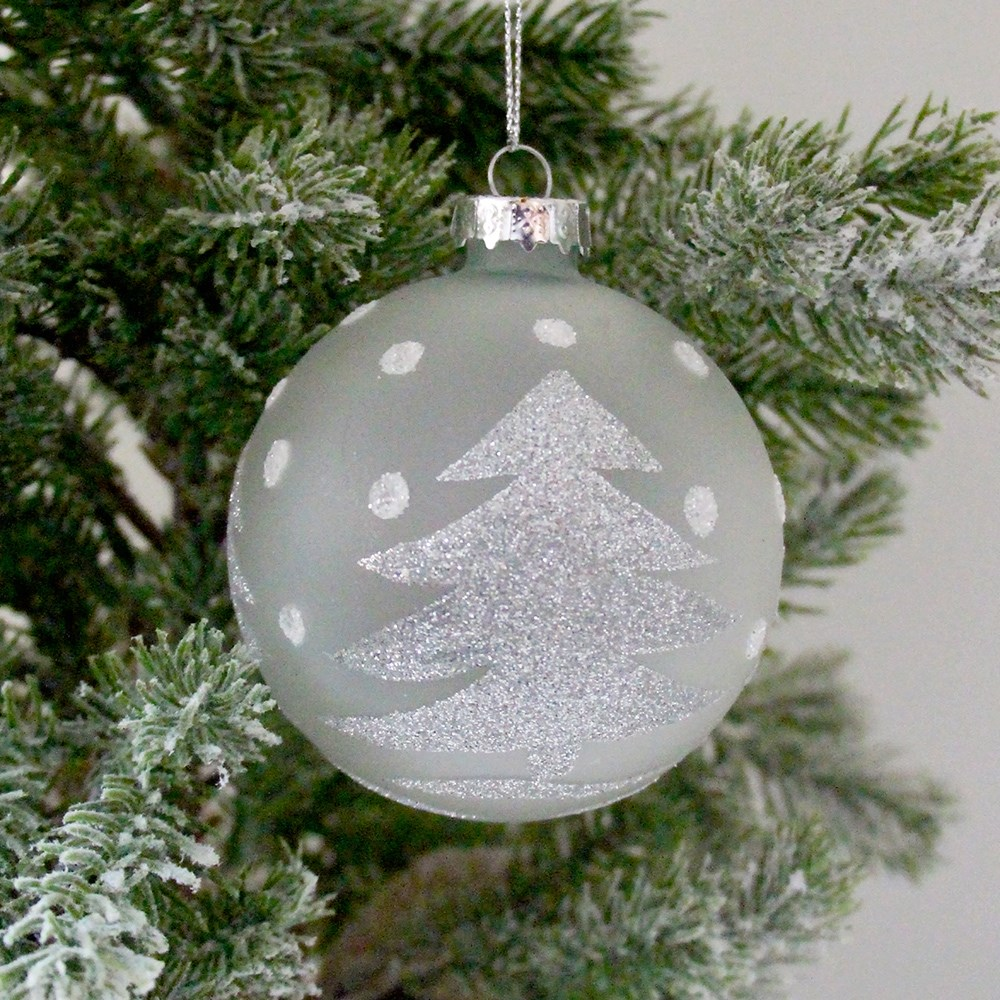 Home Beautiful Xmas Tree Bauble Frost
