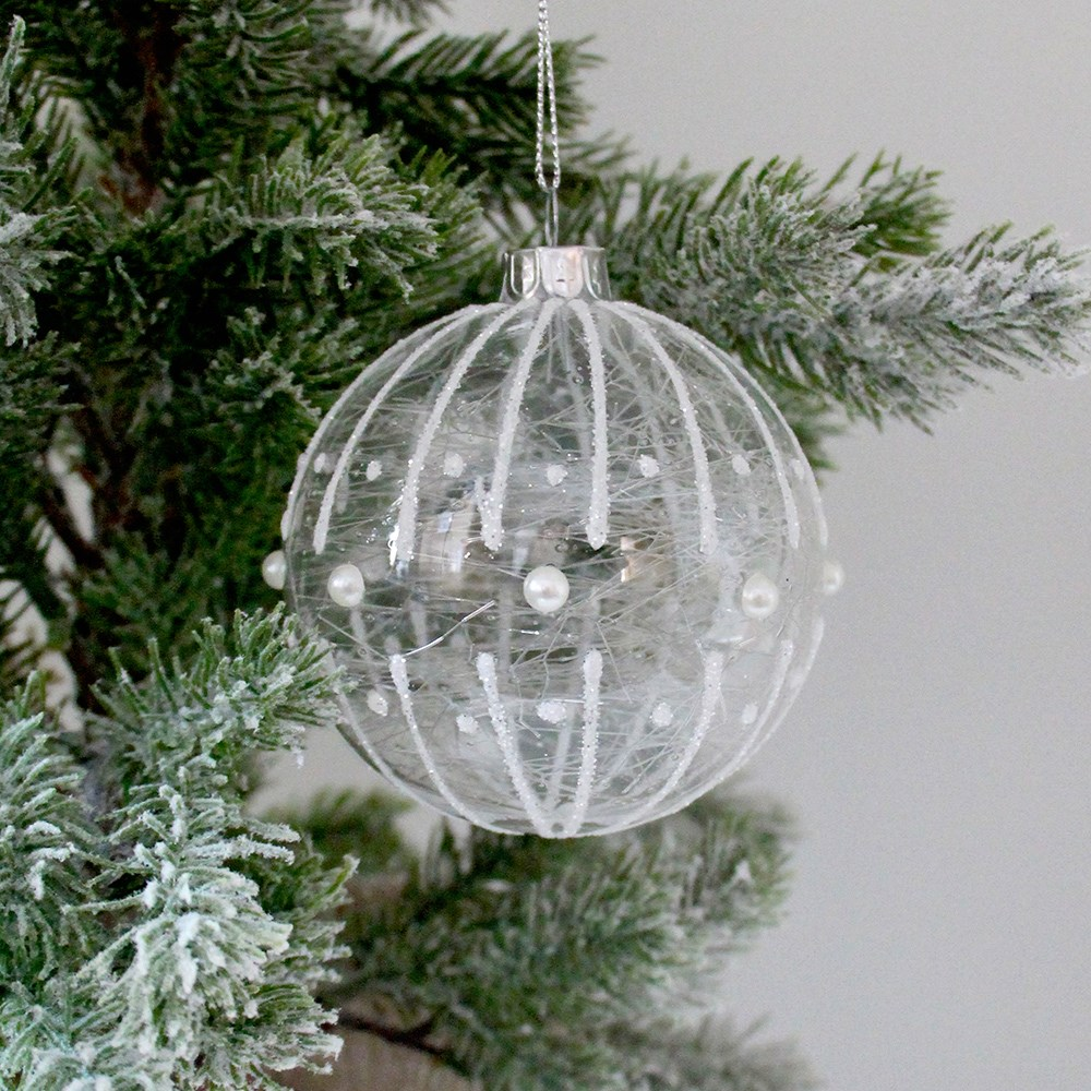 Home Beautiful Pear Christmas Ornament Frost