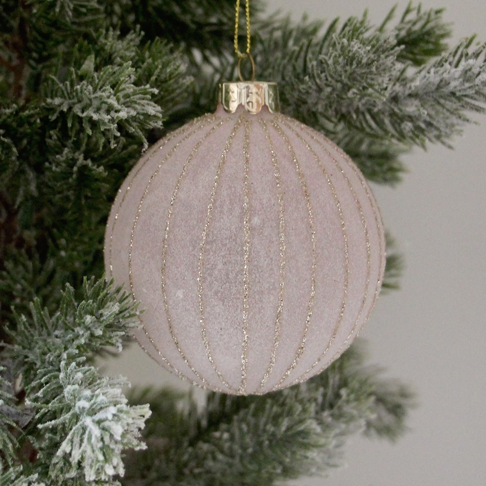 Home Beautiful Frost Ornament Pink