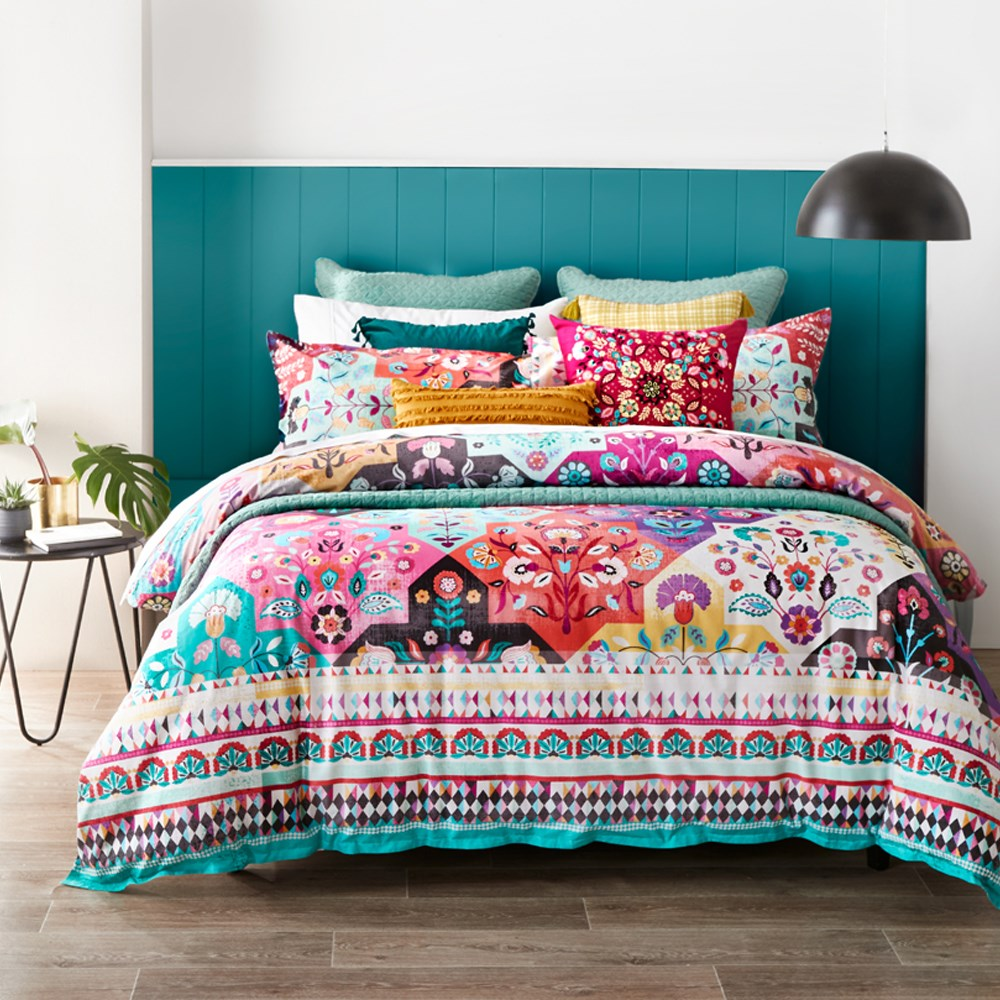 MyHouse Cassidy Quilt Cover Set Queen