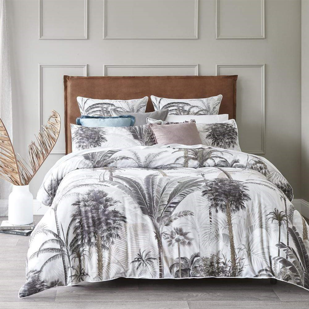 MyHouse Fraser Neutral Quilt Cover Set Queen