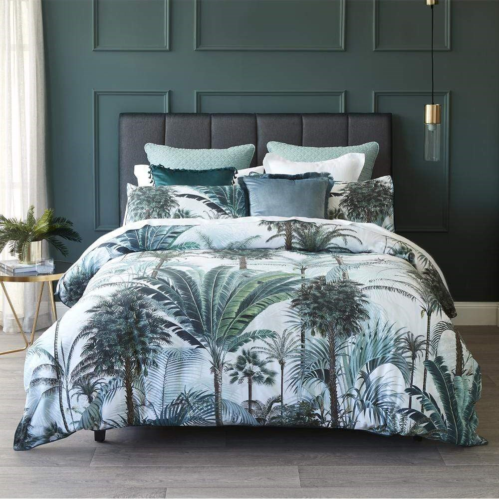 MyHouse Fraser Teal Quilt Cover Set Queen