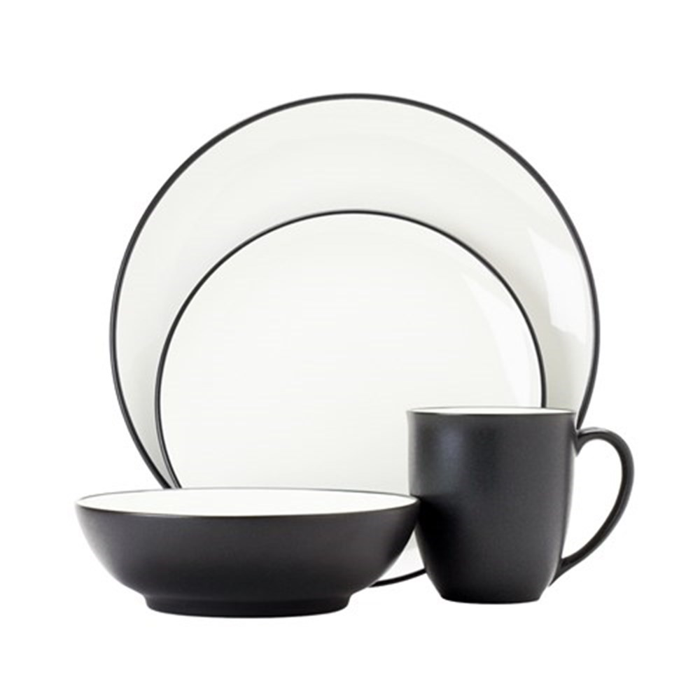 Noritake Colourwave 16 Piece Dinner Set Graphite