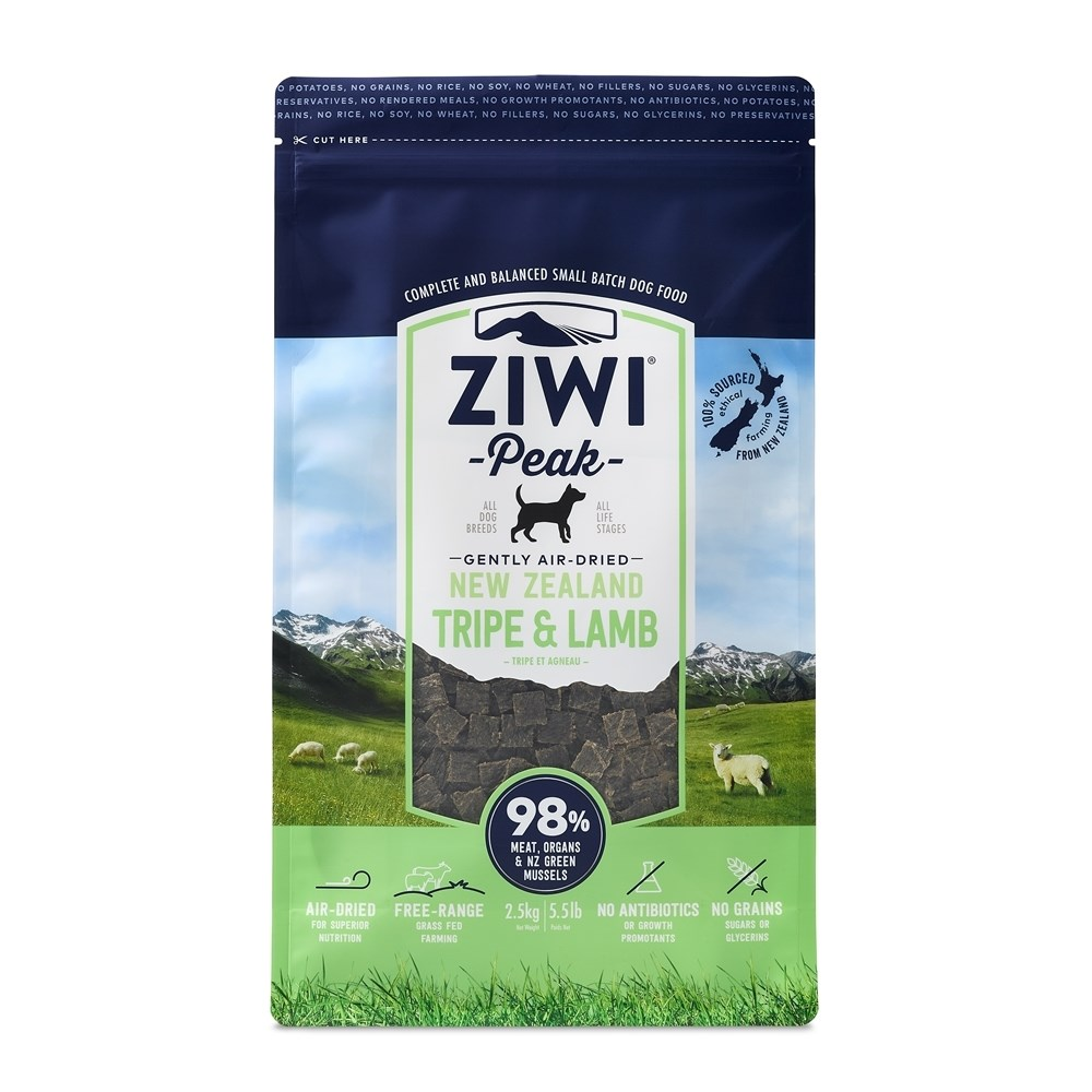 ZiwiPeak Air Dried Dog Food Tripe & Lamb 2.5kg