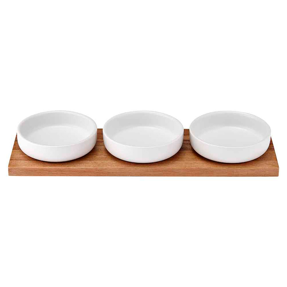 Ladelle Host White Bowl & Tray Set
