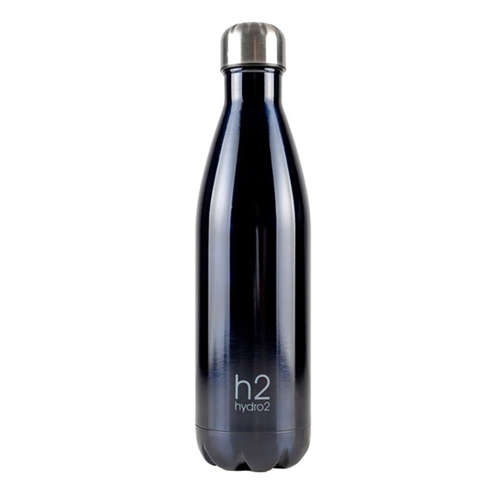 h2 hydro2 Quench Double Wall Stainless Steel Water Bottle 750ml Charcoal