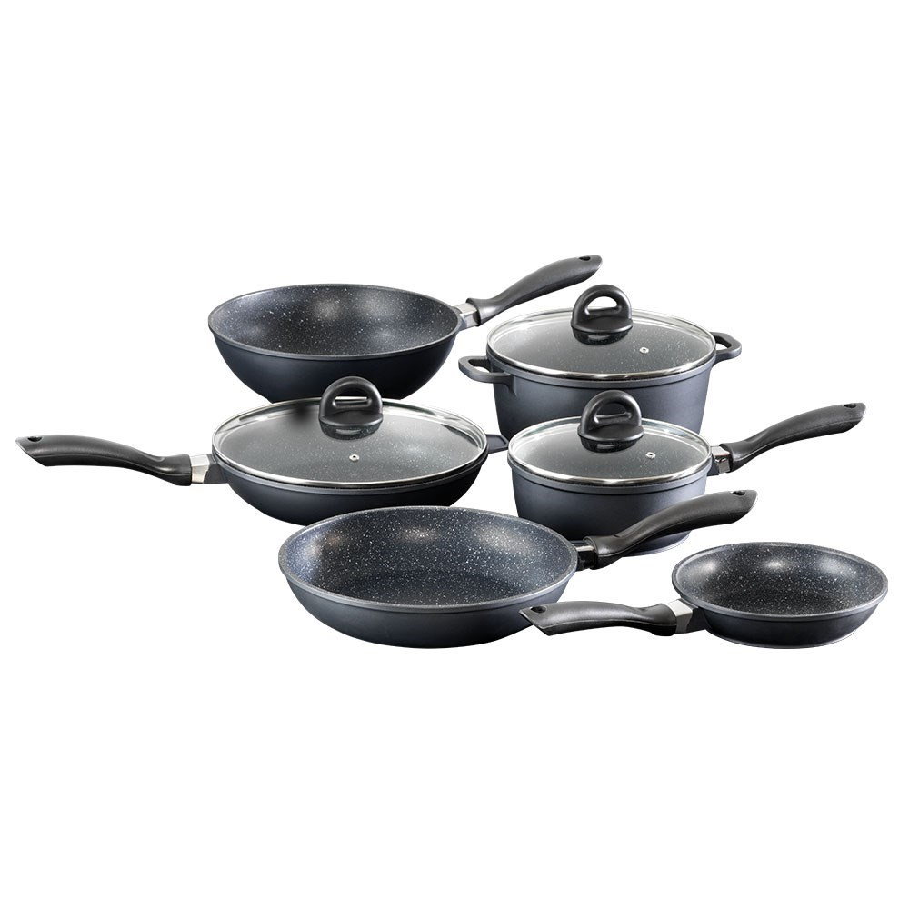 Baccarat STONE 6 Piece Cast Aluminium Cookware Set with Stir Fry Pan