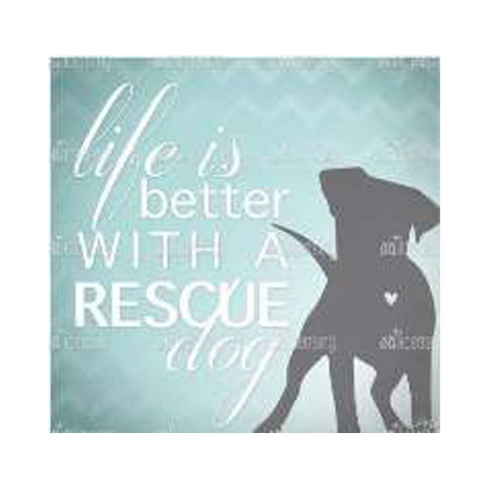 Thirstystone Better With a Rescue Dog Coaster