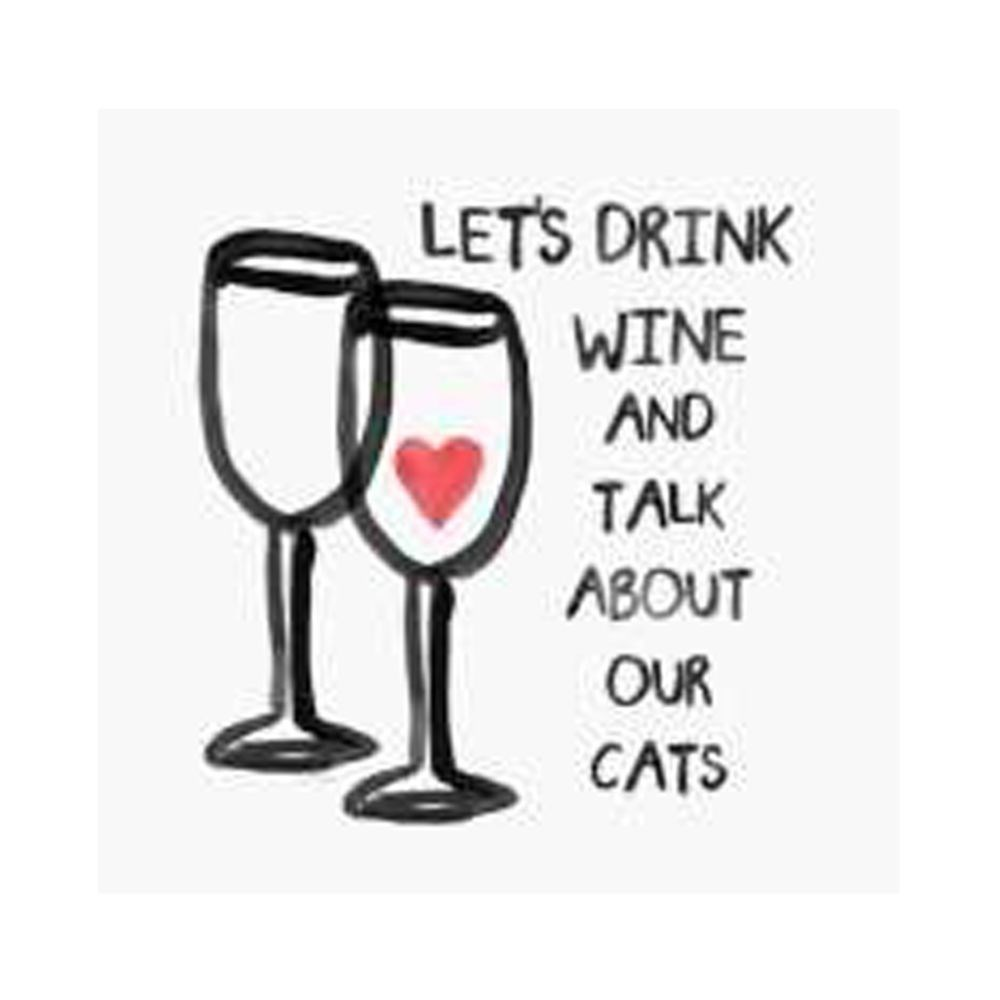 Thirstystone Lets Drink Wine & Talk About Our Cats Coaster
