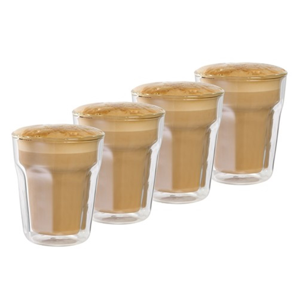 Baccarat Barista Facet Double Wall Glass Medium 345ml Set of 4