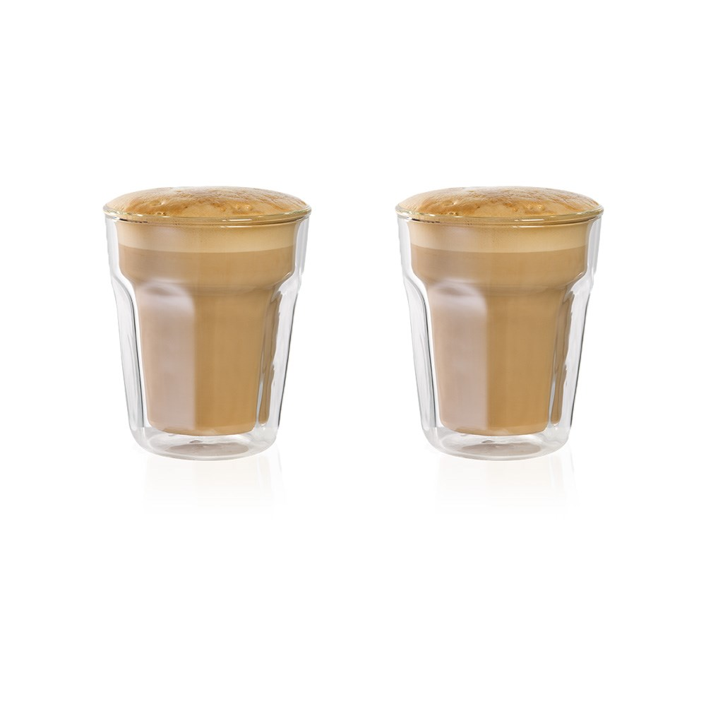Baccarat Barista Facet Double Wall Latte Glass 236ml Set of 2