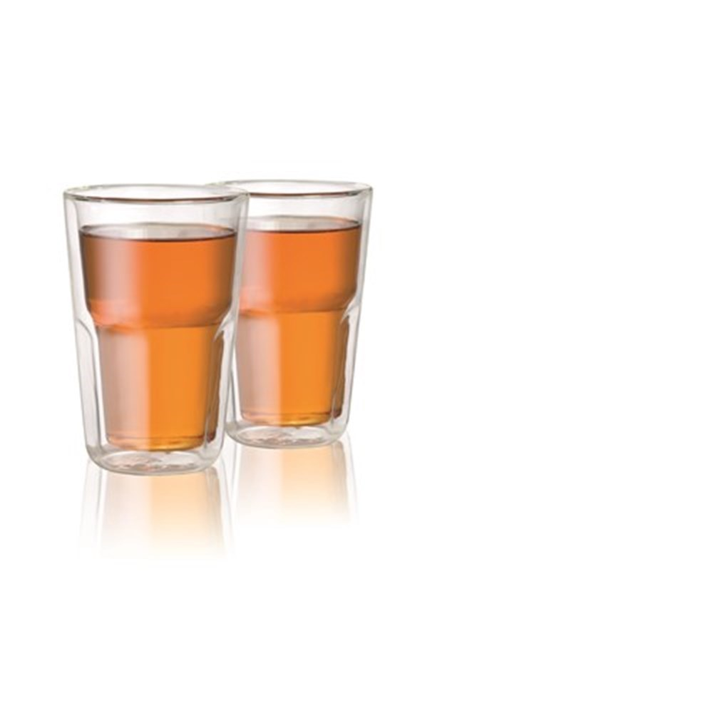 Baccarat Barista Facet Double Wall Medium Glass 345ml Set of 2