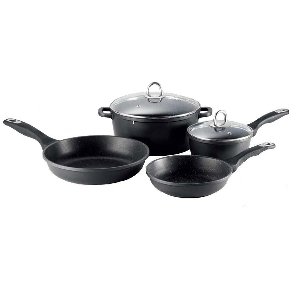 Baccarat Granite 4 Piece Non Stick Cookware Set
