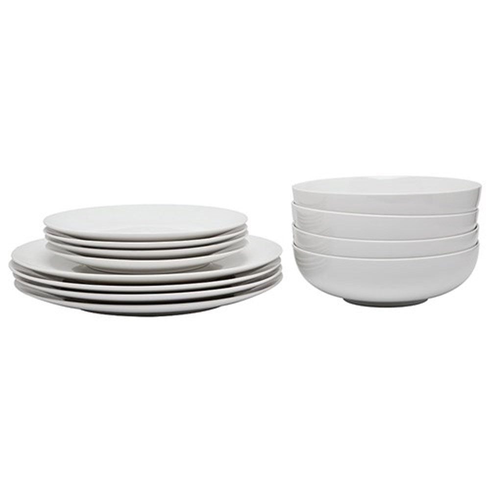 Alex Liddy Modern White 12 Piece Coupe Dinner Set