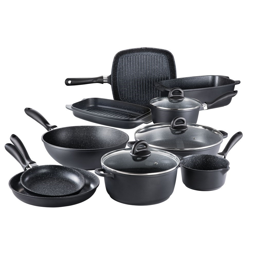 Baccarat STONE 10 Piece Cast Aluminium Cookware Set with Wok