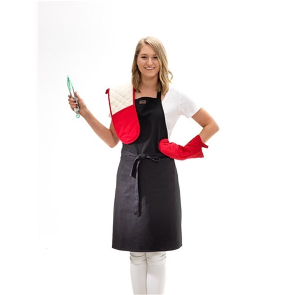 Baccarat Kitchen Full Body Cotton Apron Black