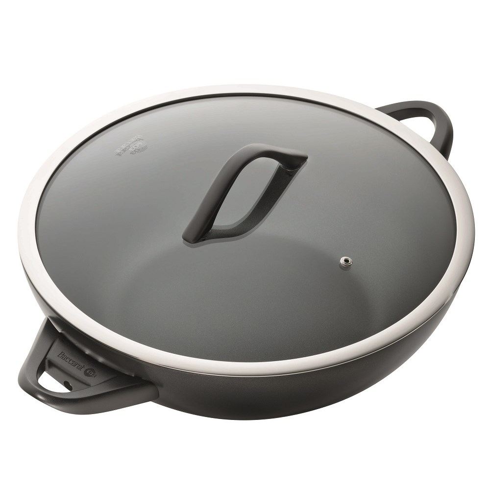 Baccarat iD3 CS Hard Anodised Non Stick Wok 36cm with Lid & Never Hot Handles