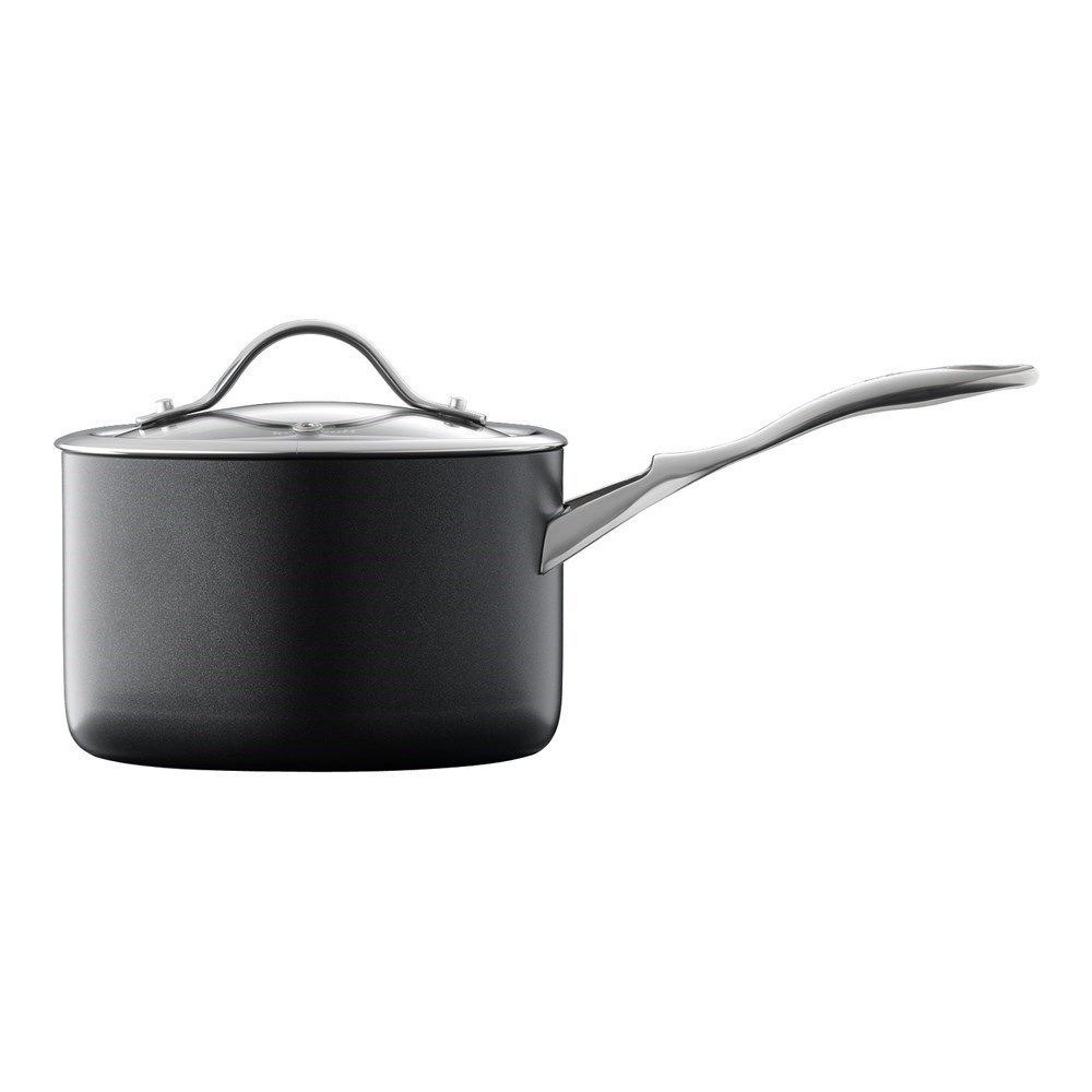 Baccarat iD3 Hard Anodised Saucepan With Lid 20 x 12cm