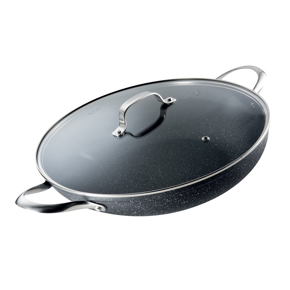 Baccarat Rock All Pan With Lid 32cm Black