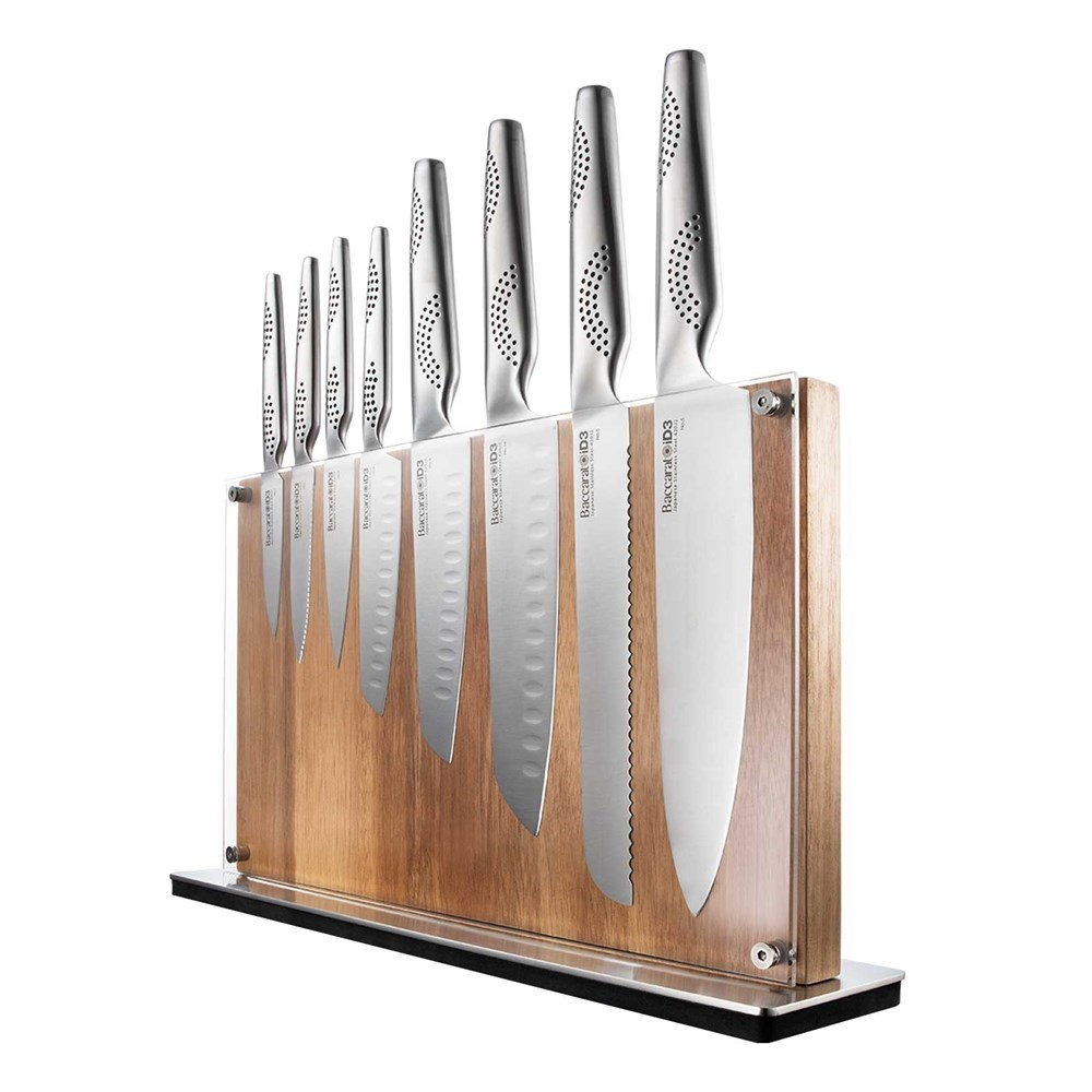 Baccarat iD3 Ryu Knife Block 9 Piece