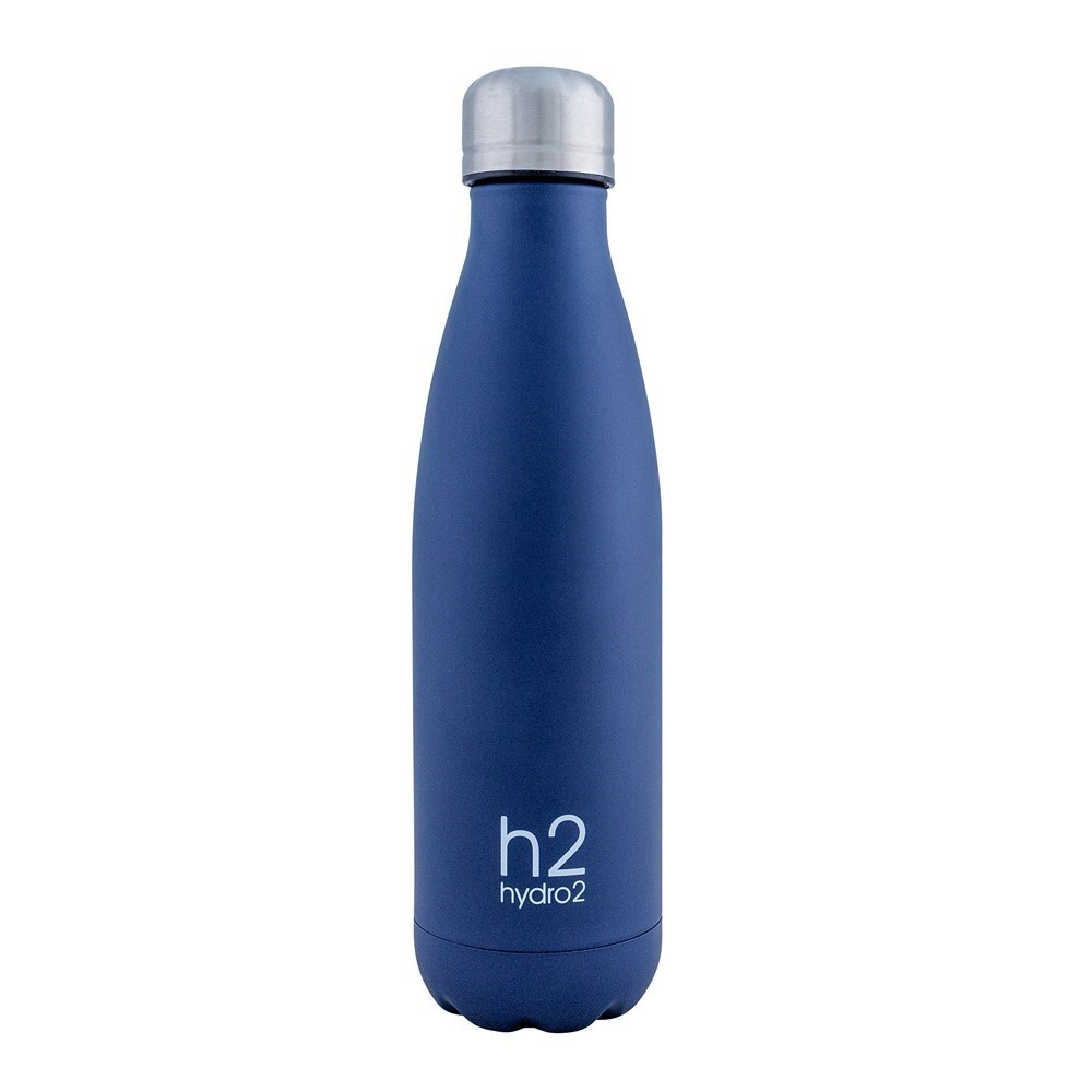 h2 hydro2 Quench Double Wall Stainless Steel Water Bottle 500ml Navy