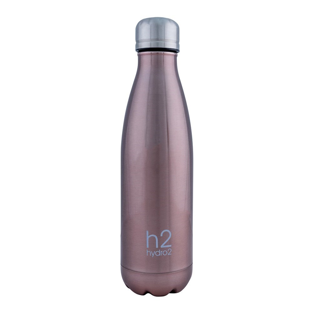 h2 hydro2 Quench Double Wall Stainless Steel Water Bottle 500ml Gold