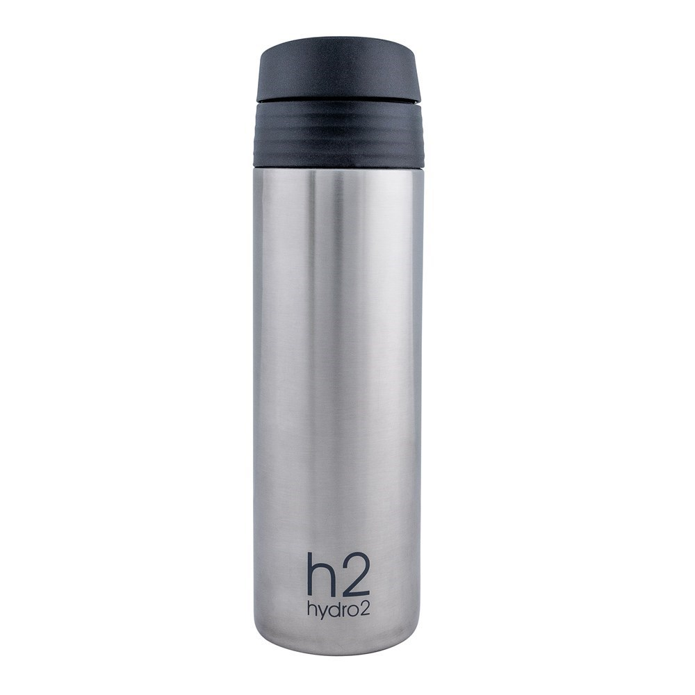 h2 hydro2 Fit Double Wall Stainless Steel One-Touch Tumbler 400ml