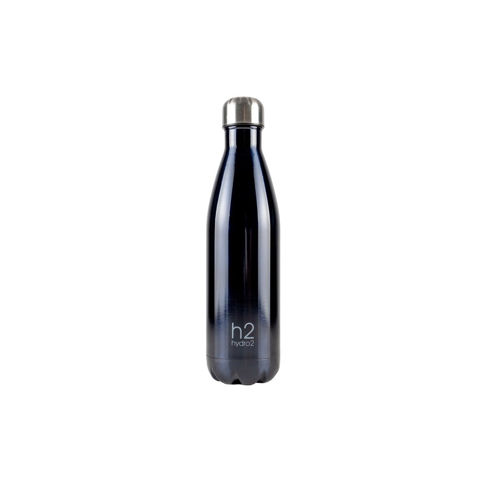 Hydro2 Quench Double Wall Stainless Steel Water Bottle 750ml Charcoal