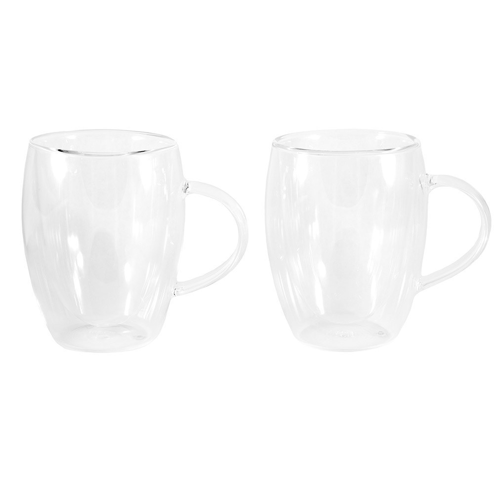 Baccarat Barista Cafe Double Wall Thermal Glass Mugs Set of 2 300ml