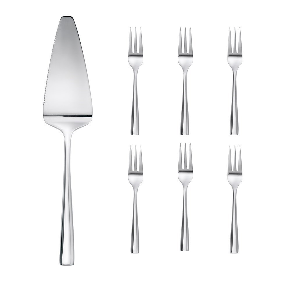Alex Liddy Arlo 7 Piece Cake Server & Fork Set