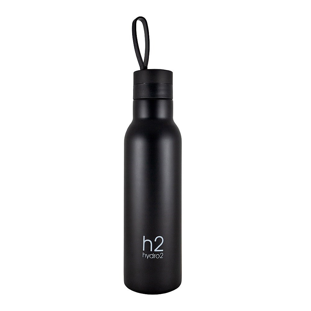 h2 hydro2 Quench Double Wall Stainless Steel Water Bottle 500ml Black