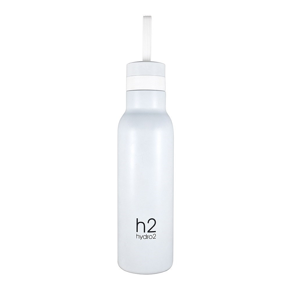 h2 hydro2 Quench Double Wall Stainless Steel Water Bottle 500ml White