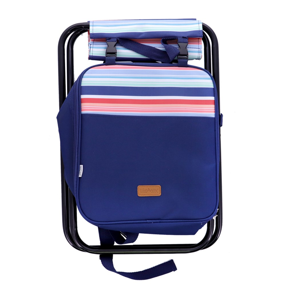 TakeAway Picnic 3-in-1 Cooler Chair Tropical Stripe