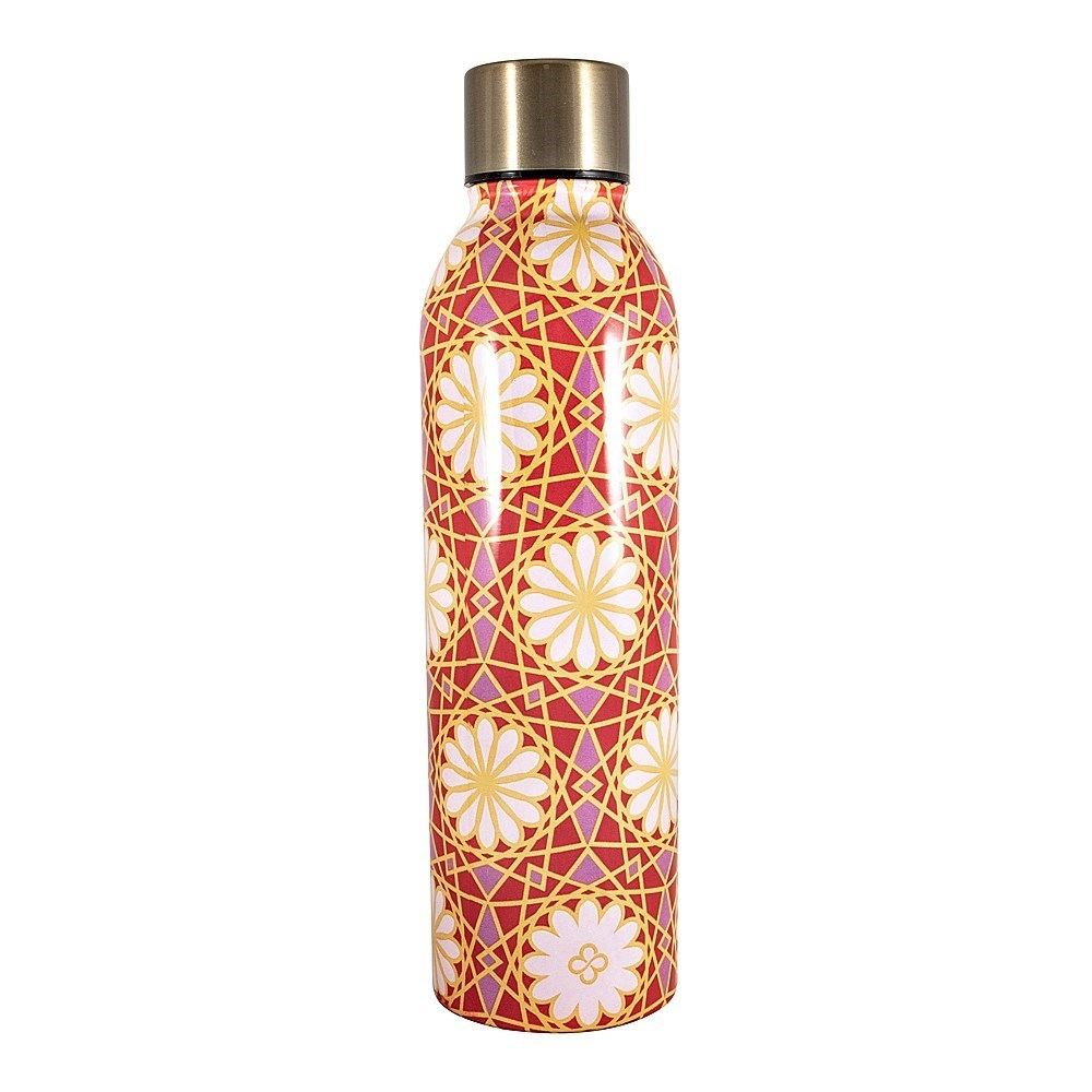 Marie Claire Mosaique Stainless Steel Drink Bottle 500ml Red