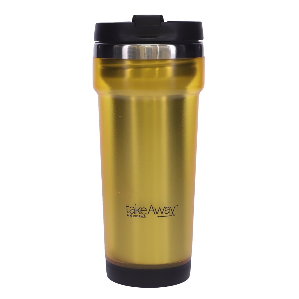 TakeAway Out Stainless Steel Insulated Travel Mug 420ml Gold