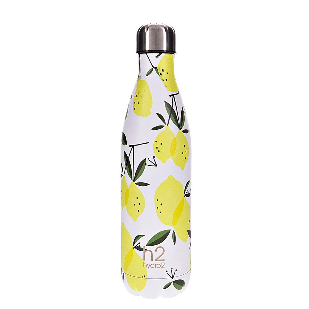 h2 hydro2 Togo Vacuum Double Wall Stainless Steel Water Bottle 750ml Lemon