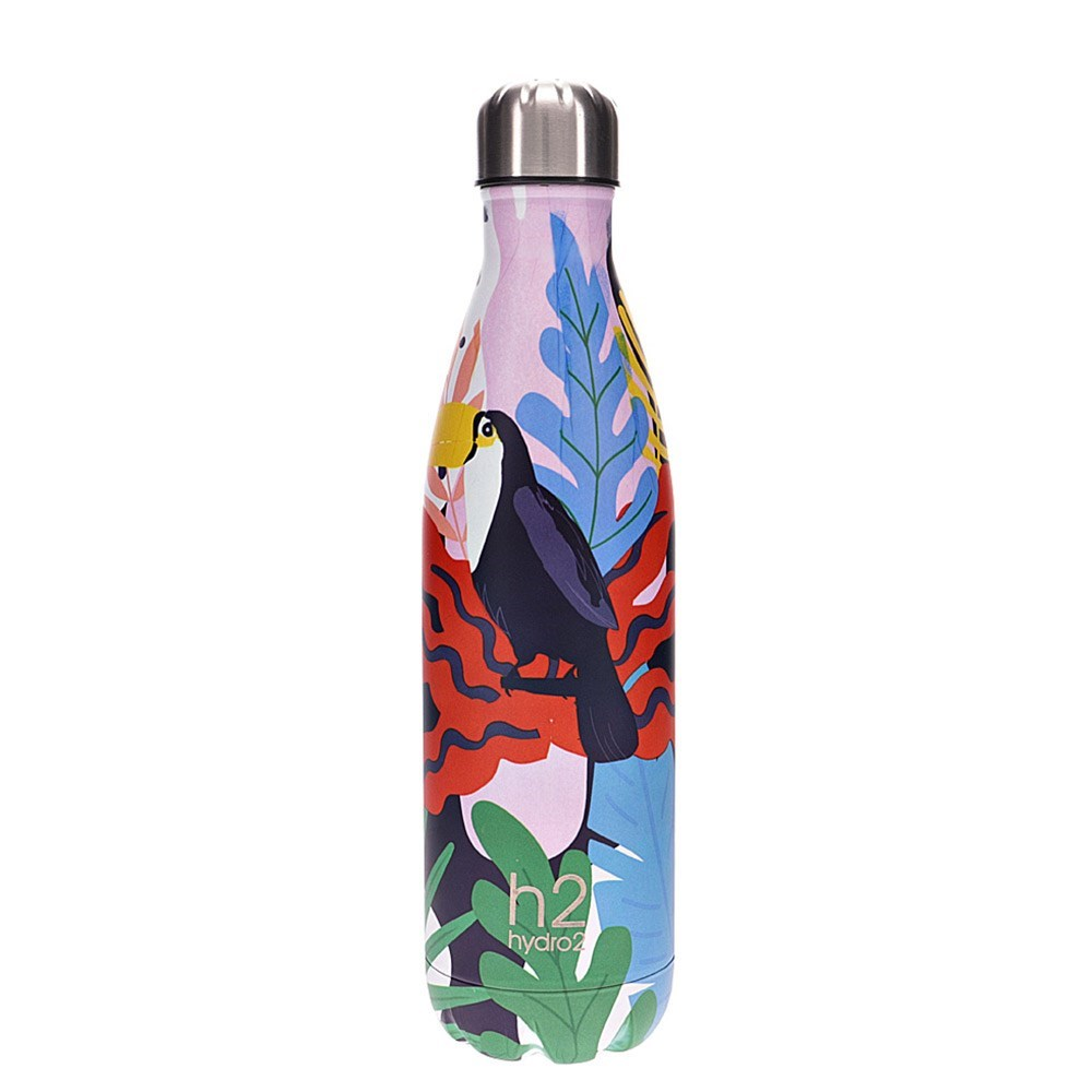 h2 hydro2 Togo Vacuum Double Wall Stainless Steel Water Bottle 750ml Toucan