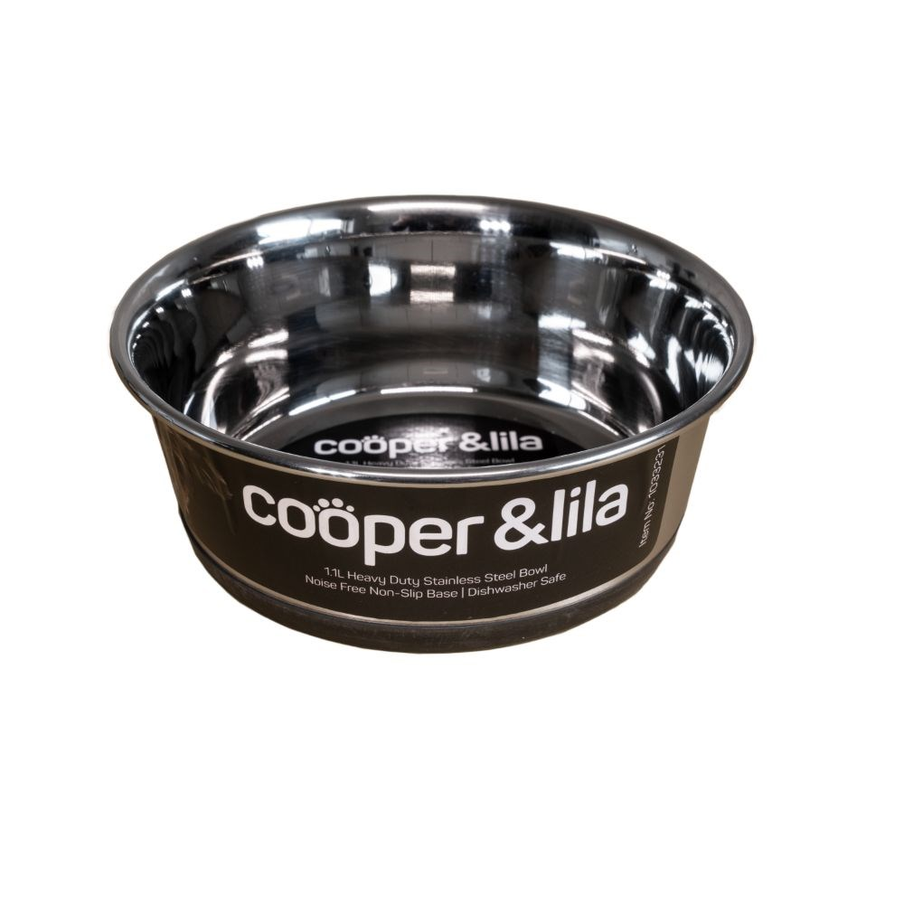Cooper & Lila Stainless Steel Dog Bowl 1.1L