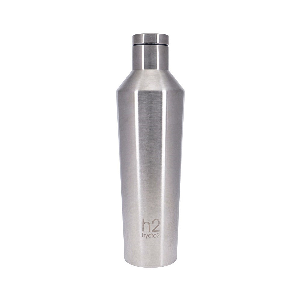h2 hydro2 Quench Double Wall Stainless Steel Water Bottle 810ml Silver