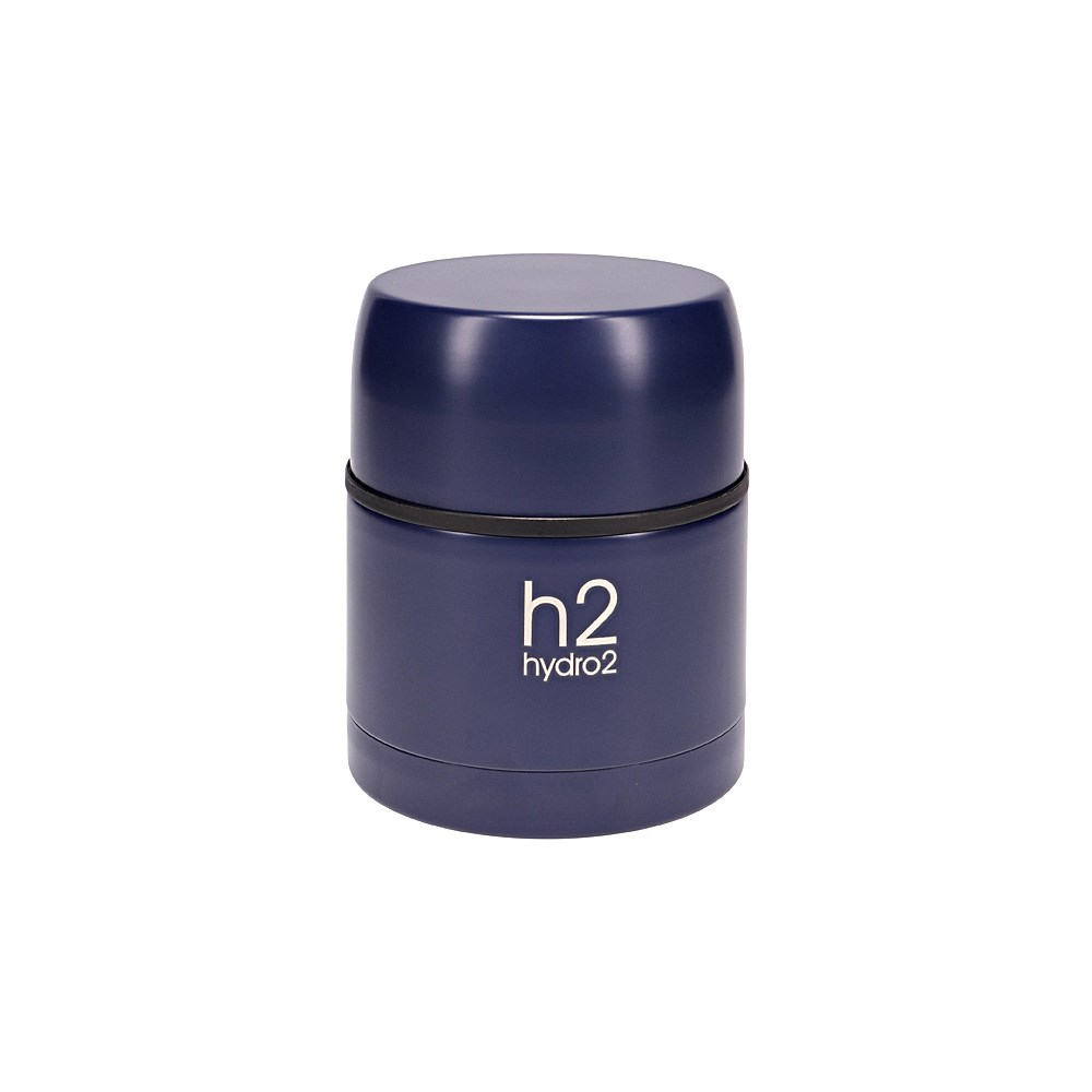 h2 hydro2 Togo Double Wall Stainless Steel Food Jar 470ml Navy Blue