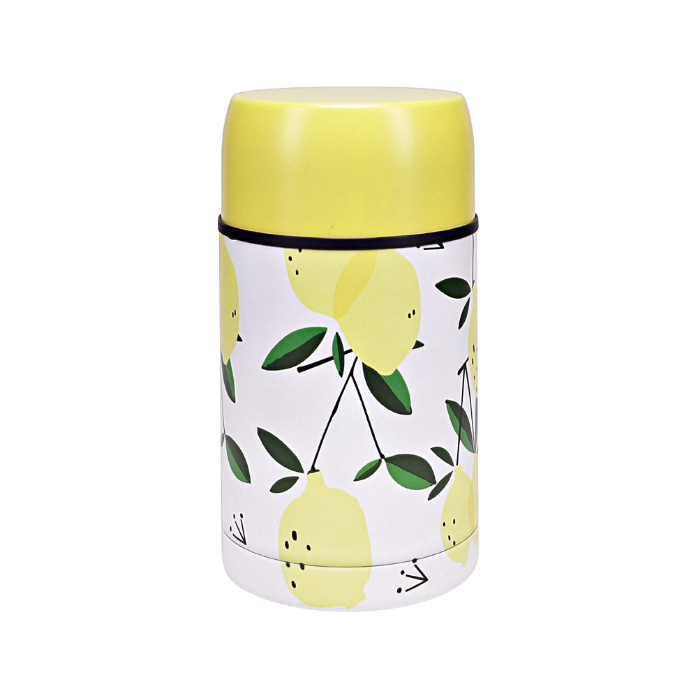 h2 hydro2 Togo Double Wall Stainless Steel Food Jar 800ml Lemon