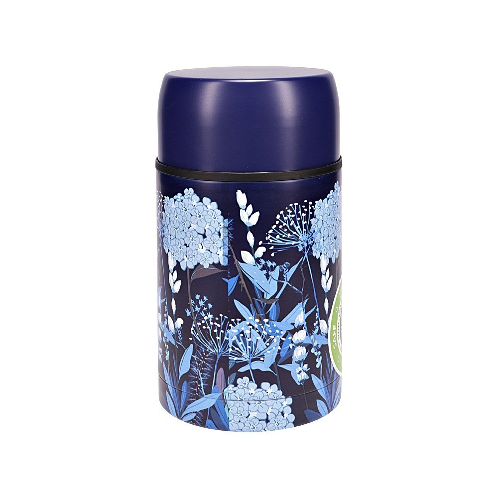h2 hydro2 Togo Double Wall Stainless Steel Food Jar 800ml Flower