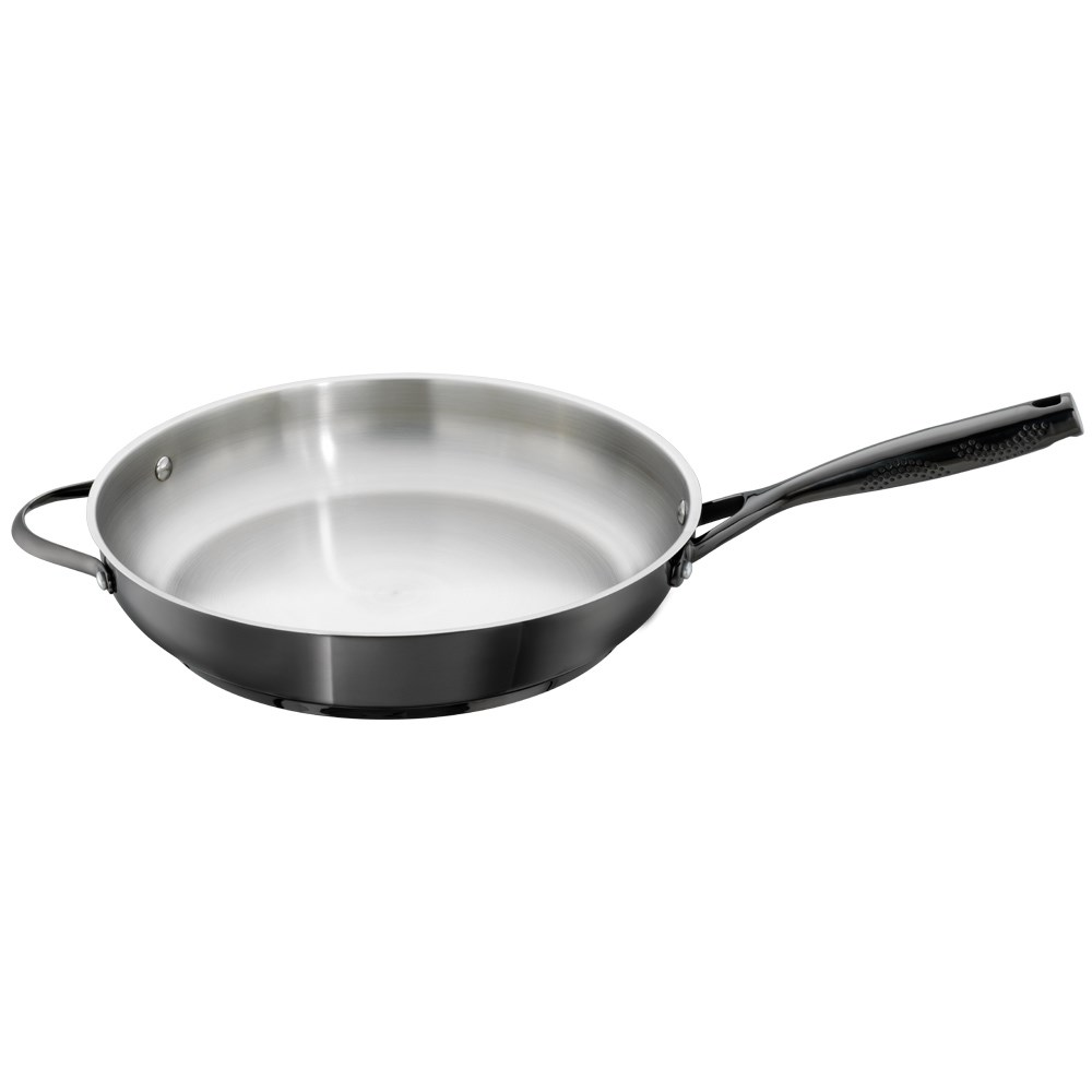 Baccarat iD3 Black Platinum Stainless Steel Frypan with Helper Handle 32cm