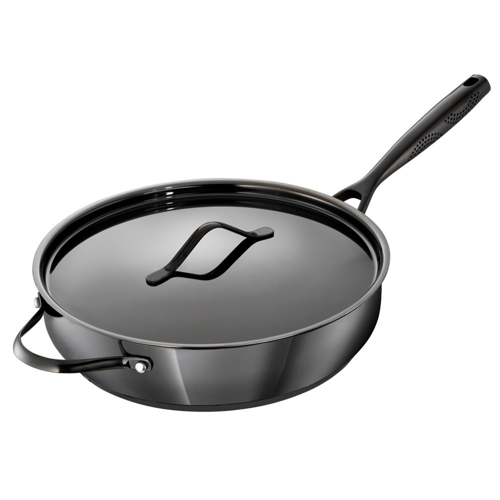 Baccarat iD3 Black Platinum Stainless Steel Saute Pan with Lid 30cm