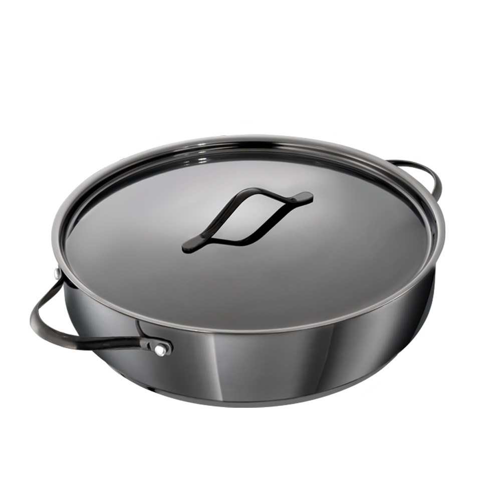 Baccarat iD3 Black Platinum Stainless Steel Saute Pan with Lid 32cm