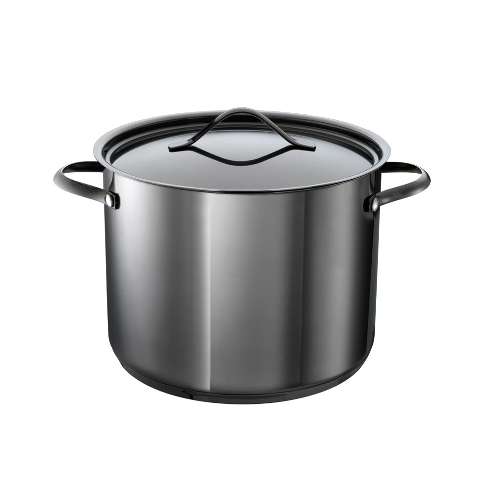 Baccarat iD3 Black Platinum Stainless Steel Stockpot with Lid 24cm