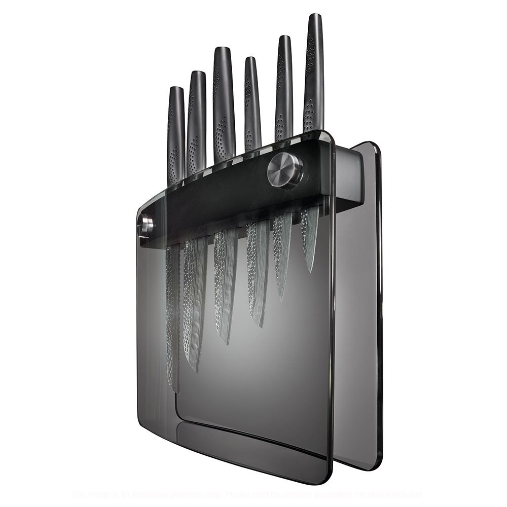 Baccarat iD3 Black Samurai Sakai Knife Block 7 Piece