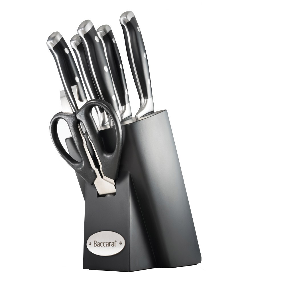 Baccarat Artisan Finster 7 Piece Knife Block
