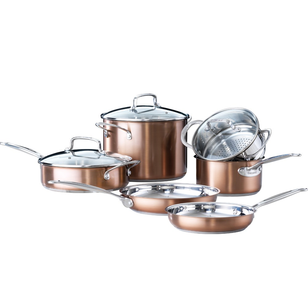 Baccarat Signature 6 Piece Cookware Set Copper